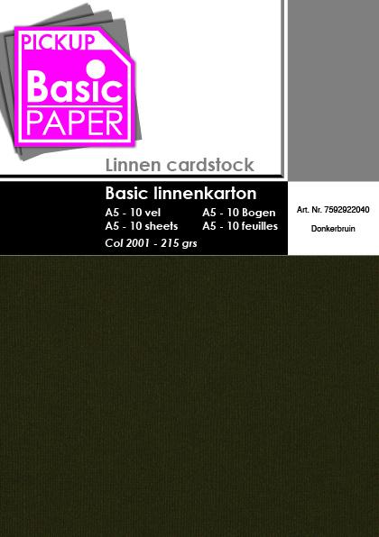Basic Linnenkarton A5 Donkerbruin - 10 vel - 215g
