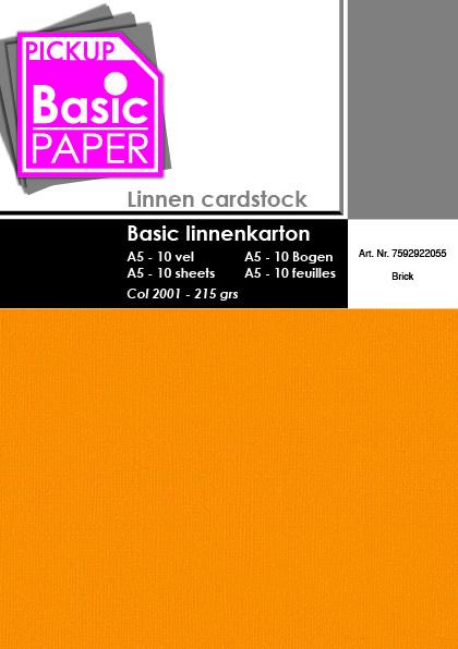 Basic Linnenkarton A5 Brick - 10 vel - 215g