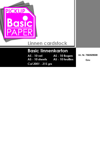 Basic Linnenkarton A5 Ecru - 10 vel - 215g