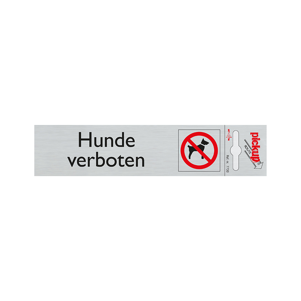 Pickup Route Alulook 165x44 mm - Hunde verboten