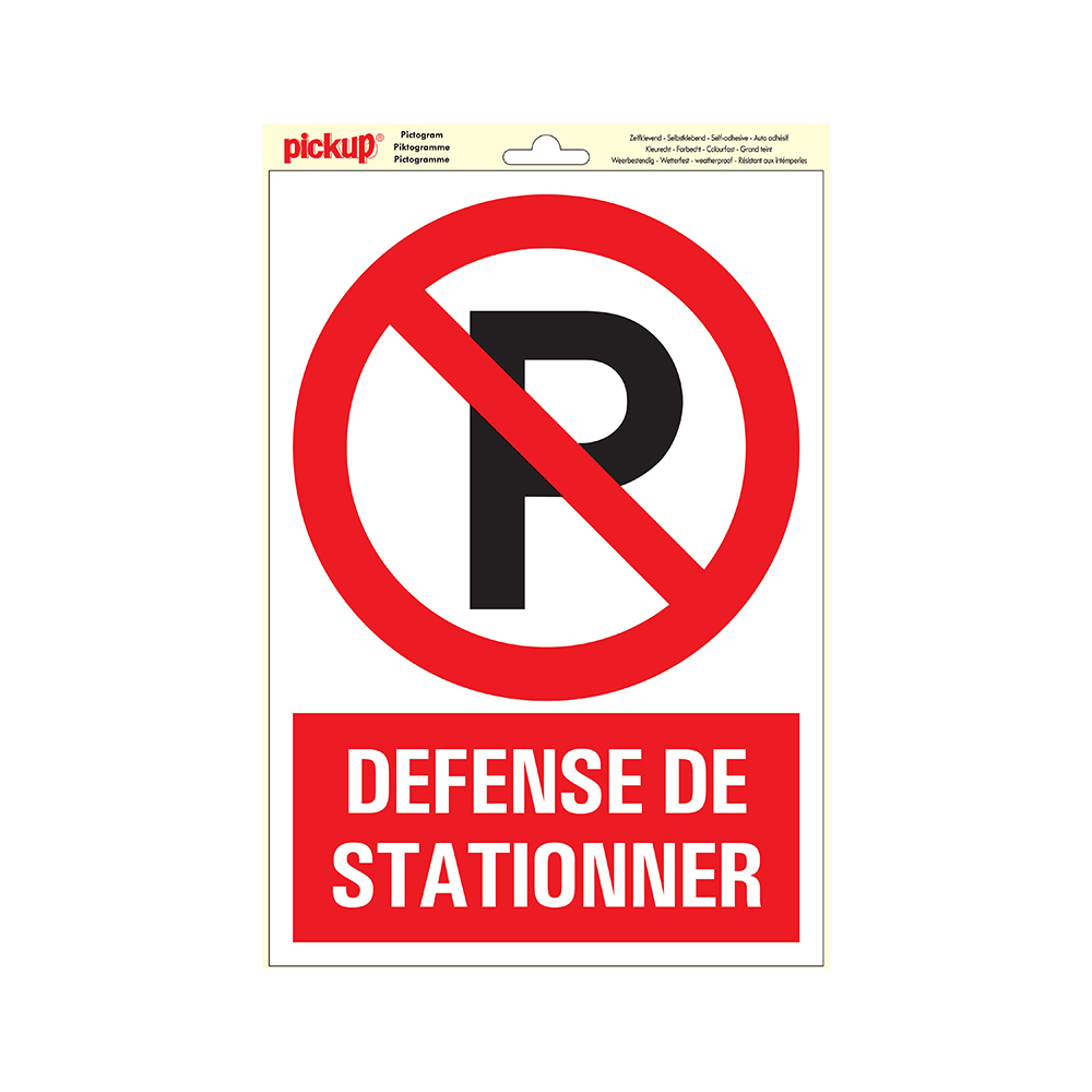 Picto Vinyl 23x33cm - Defense de stationner
