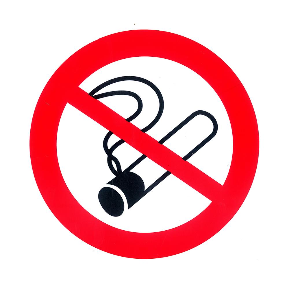 Picto zelfklevend diam 300mm - Verboden te roken P800