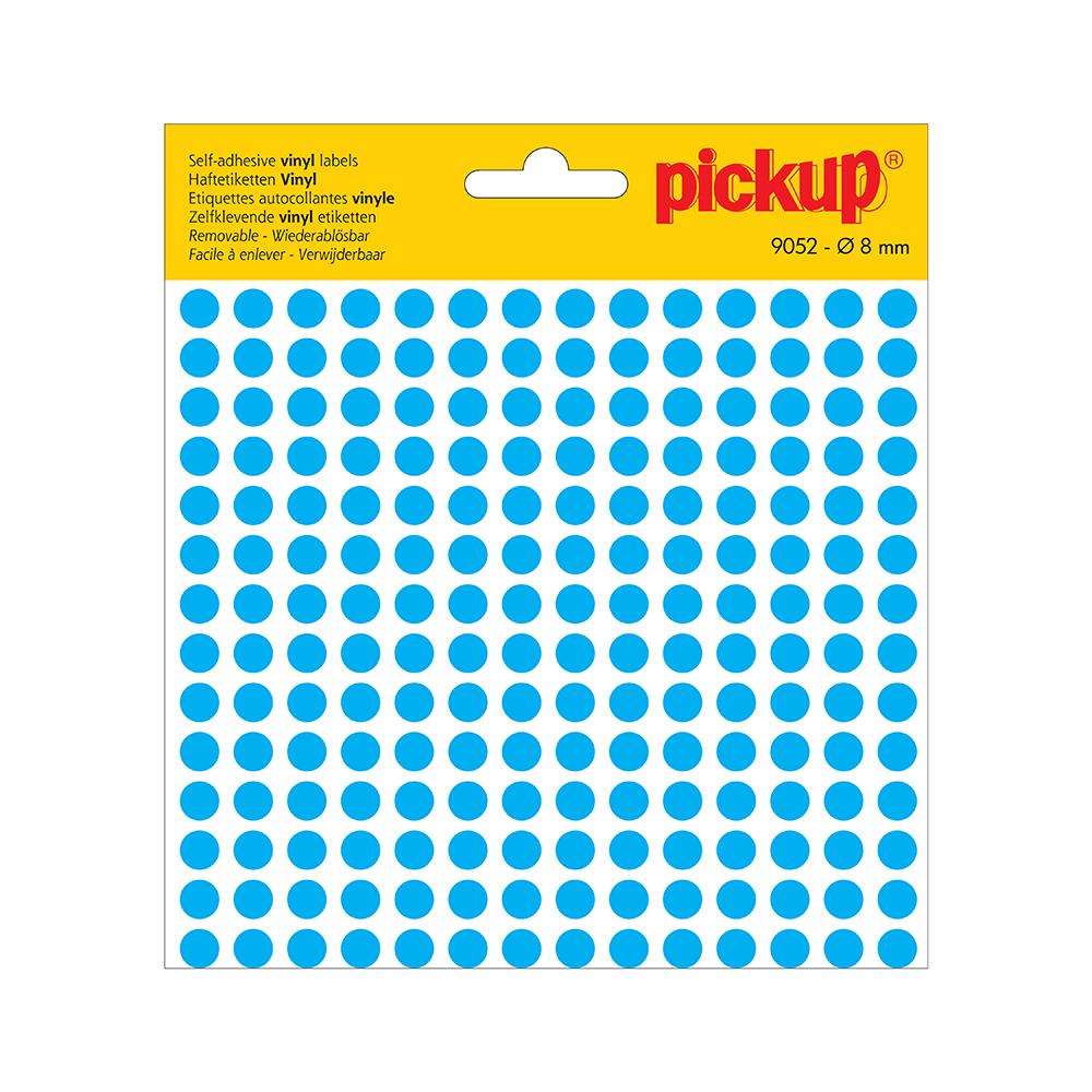 Stippen vinyl 8 mm blauw - 9052