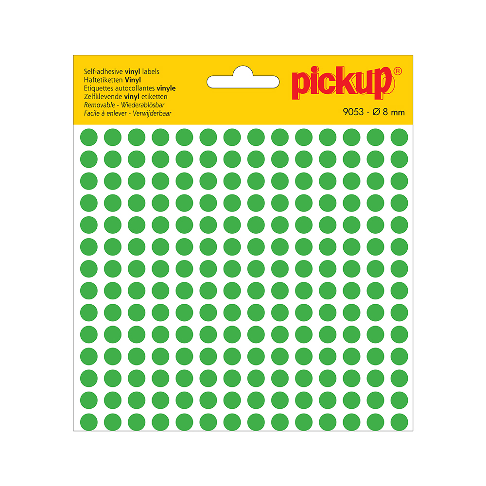 Stippen vinyl 8 mm groen - 9053