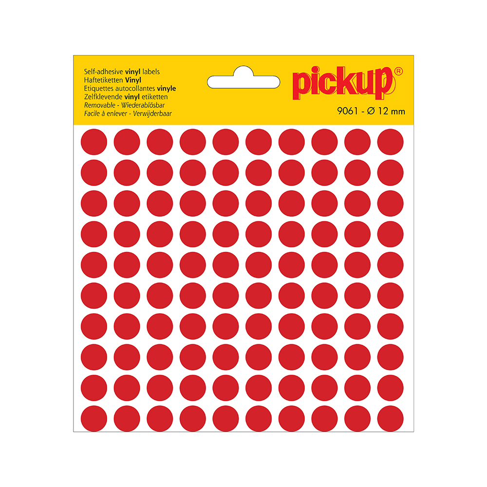 Stippen vinyl 12 mm rood - 9061