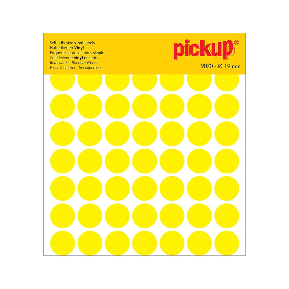 Stippen vinyl 19 mm geel - 9070