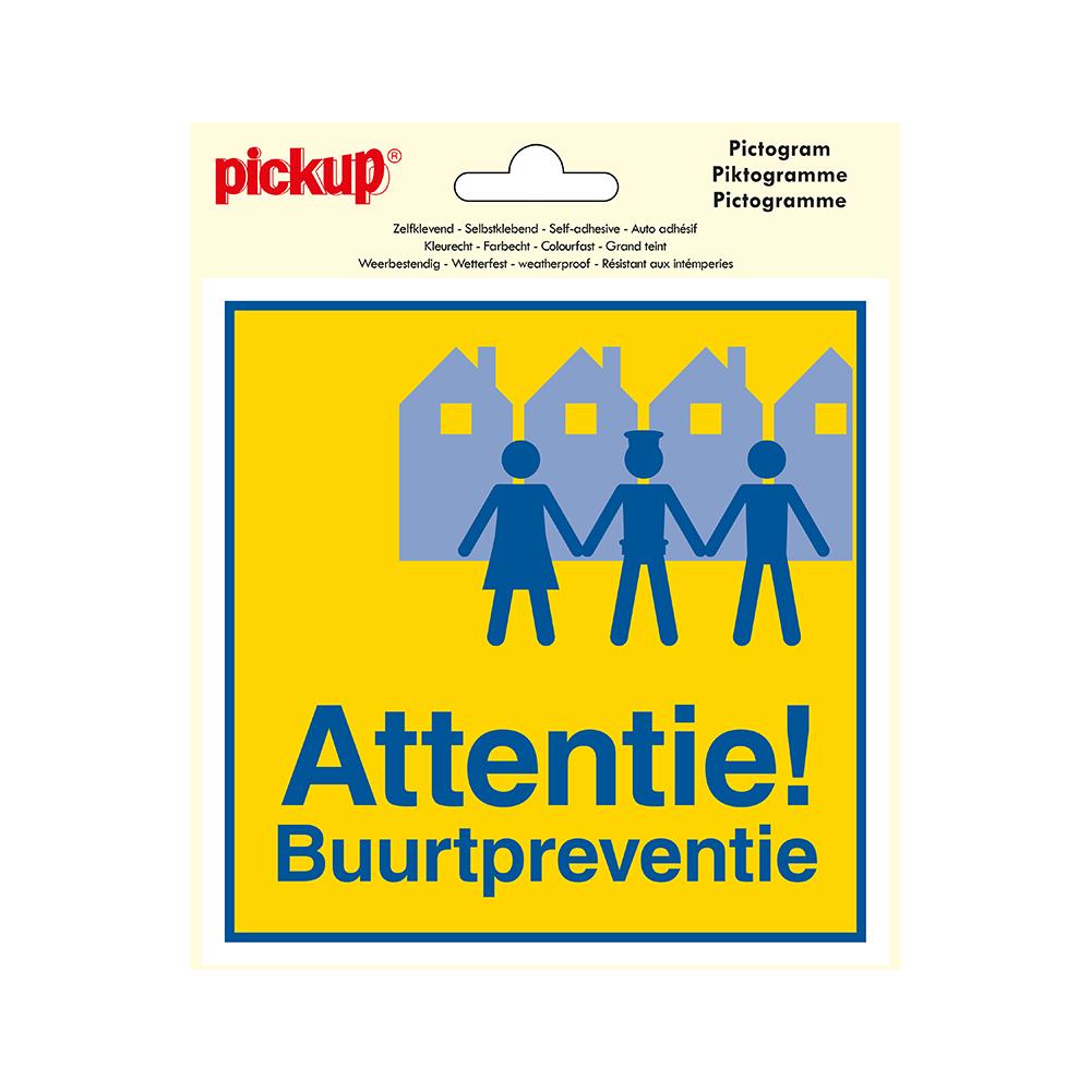 Pictogram Vinyl 15x15cm - Attentie Buurtpreventie