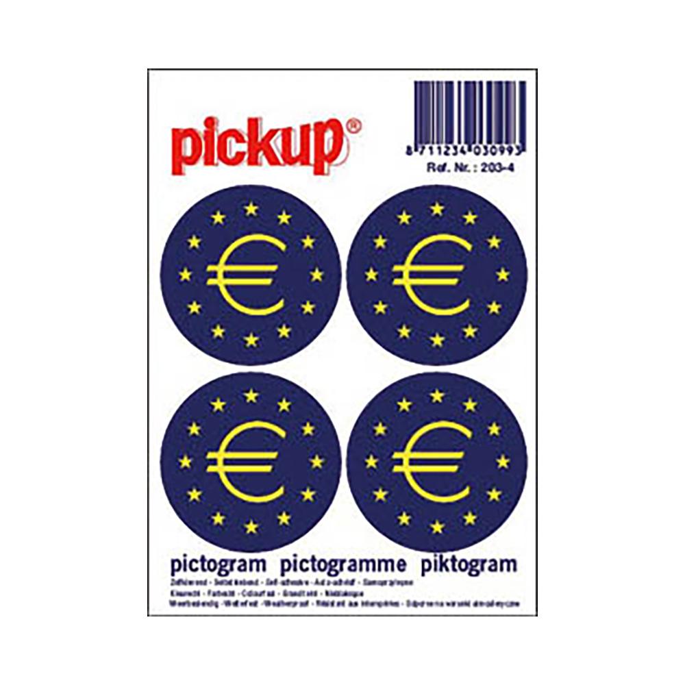 Pictogram 10x10cm - Euroteken rond klein