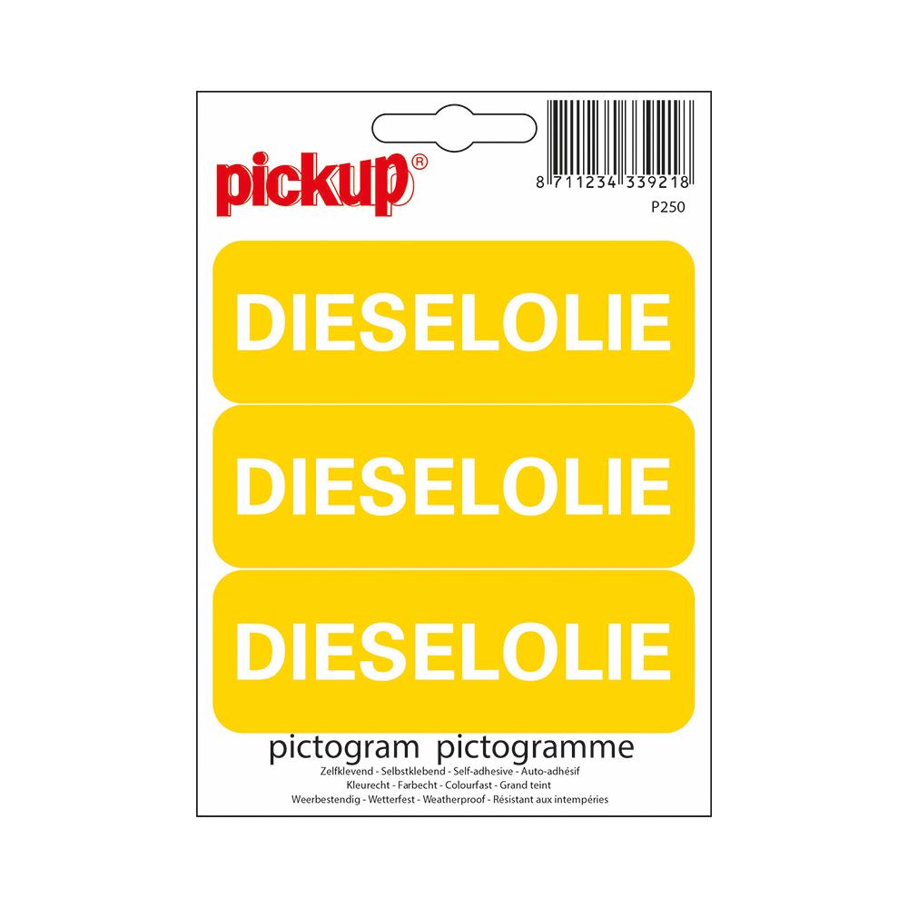 Pictogram 10x10cm - Dieselolie 3x