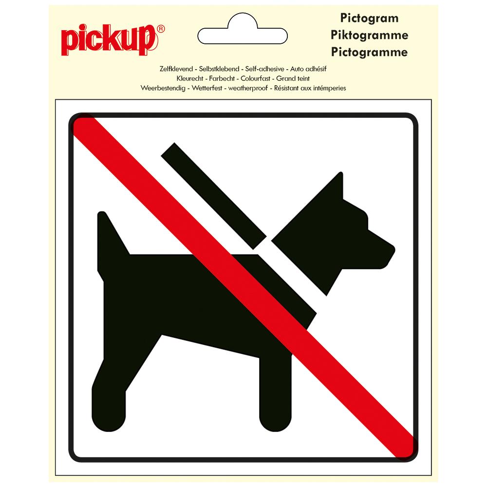 Pictogram Vinyl 15x15cm - HUNDE FORBUDT