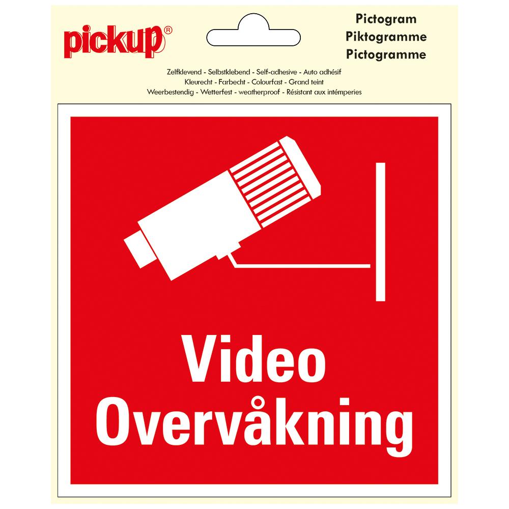 Pictogram zelfklevend 15 x 15 - VIDEO OVERVÅKNING