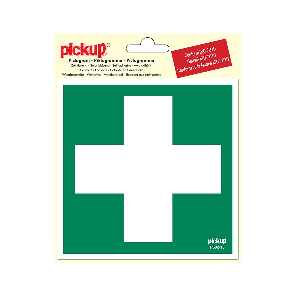 Pickup Pictogram 15x15 cm - Eerste hulp - conform ISO 7010