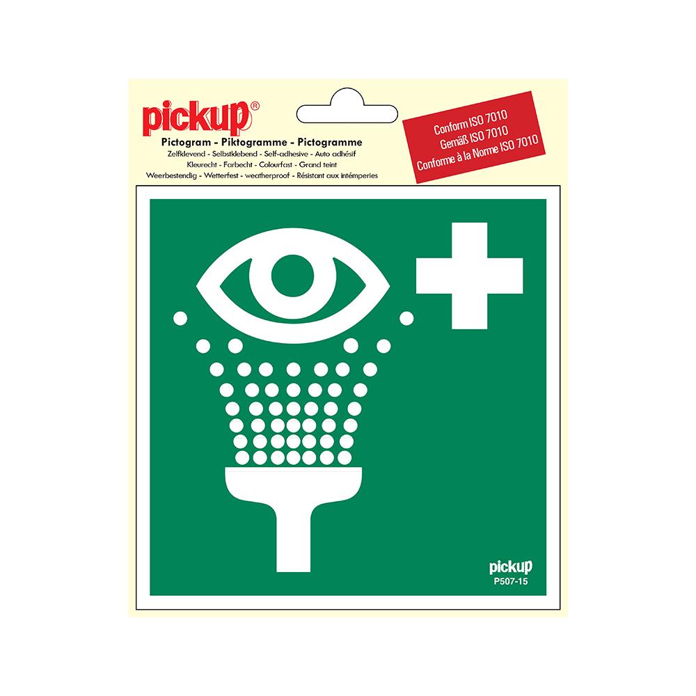 Pickup Pictogram 15x15 cm - Oogdouche - conform ISO 7010
