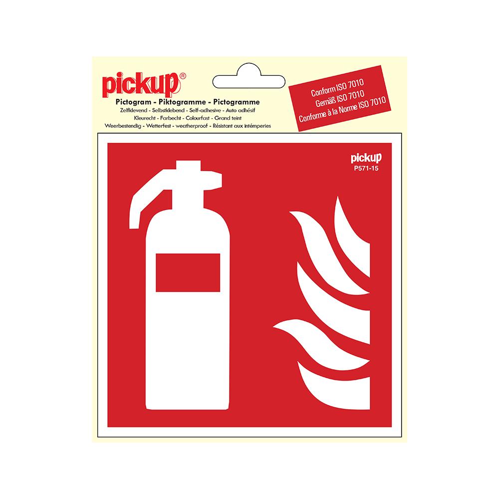 Pictogram Vinyl 15x15cm - Brandblusser - conform ISO 7010