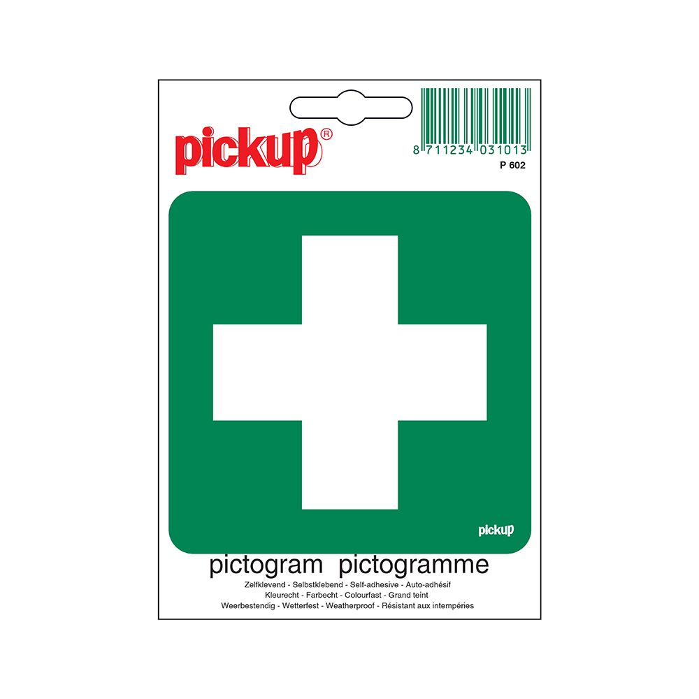 Pictogram 10x10cm - EHBO E.H.B.O. post