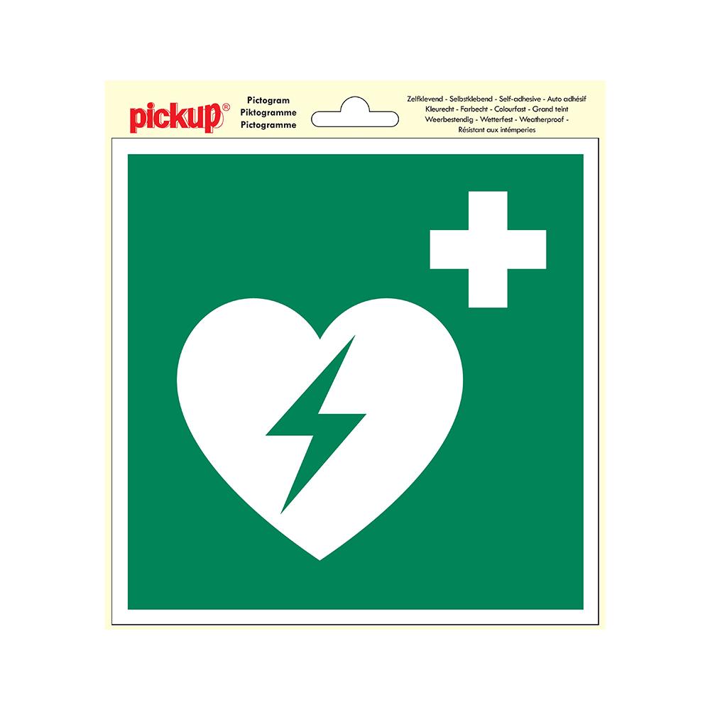 Pictogram 20x20cm - AED Defibrillator