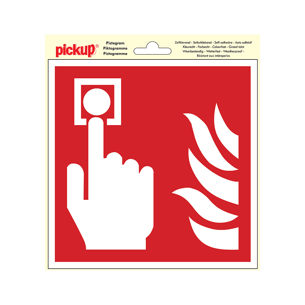 Pictogram 20x20cm - Plaats brandmelder