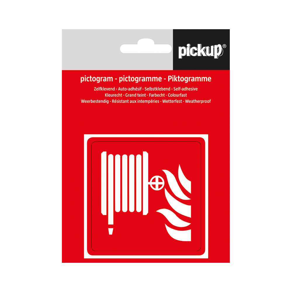 Pickup pictogram Aufkleber 7,5x7,5 cm Löschschlauch