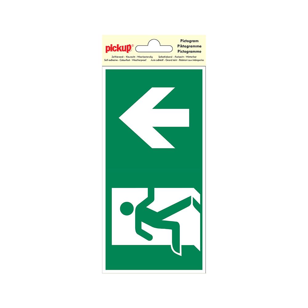 Pictogram 10x20cm - Verwijzing nooduitgang rechtdoor