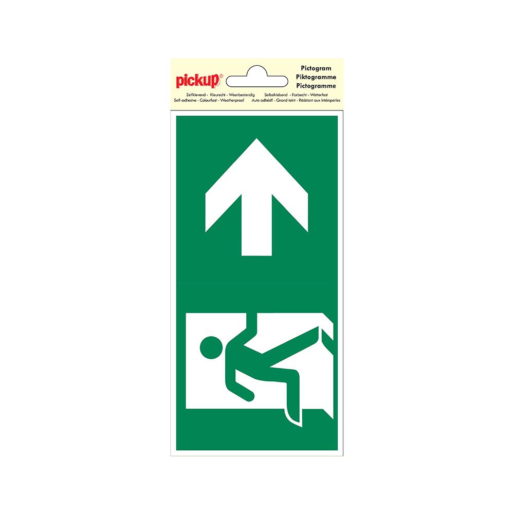 Pictogram 10x20cm - Verwijzing nooduitgang rechts