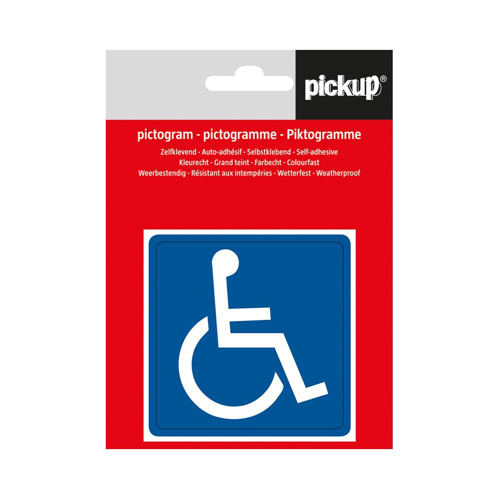 Pickup pictogram Aufkleber 7,5x7,5 cm Behinderte Symbol