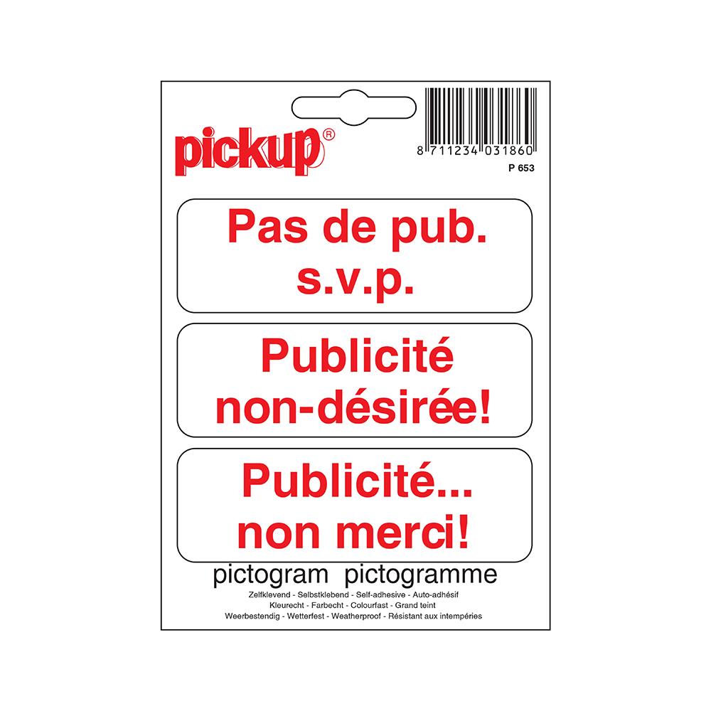 Pictogram 10x10cm - Pas de pub s.v.p.