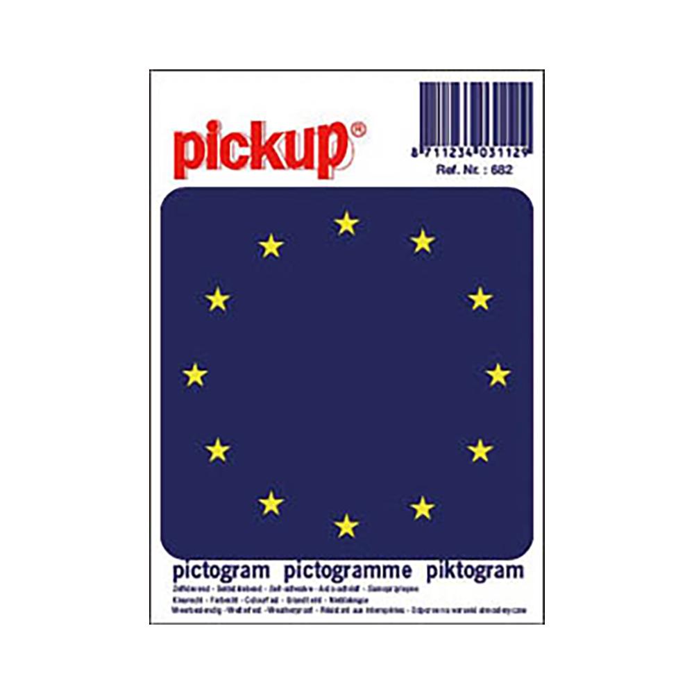 Pictogram 10x10cm - Europese vlag