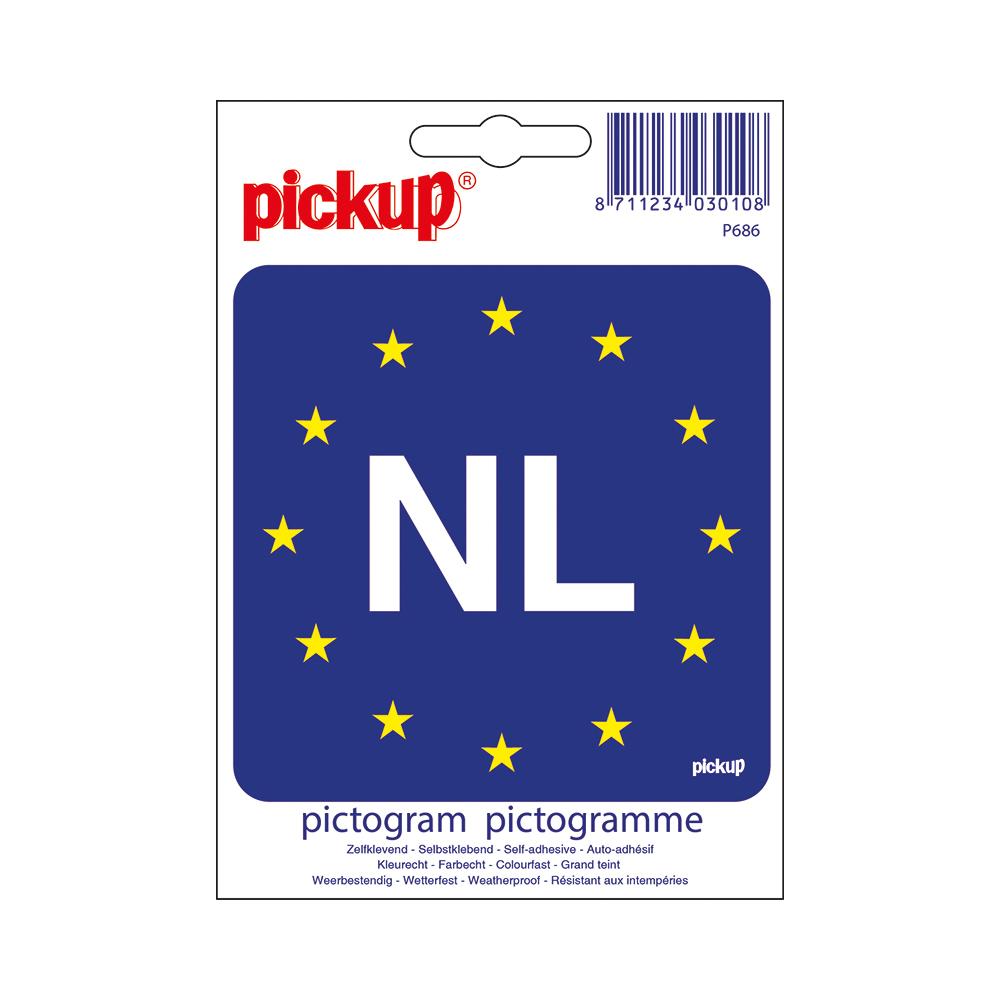 Pictogram 10x10cm - Europese vlag met NL