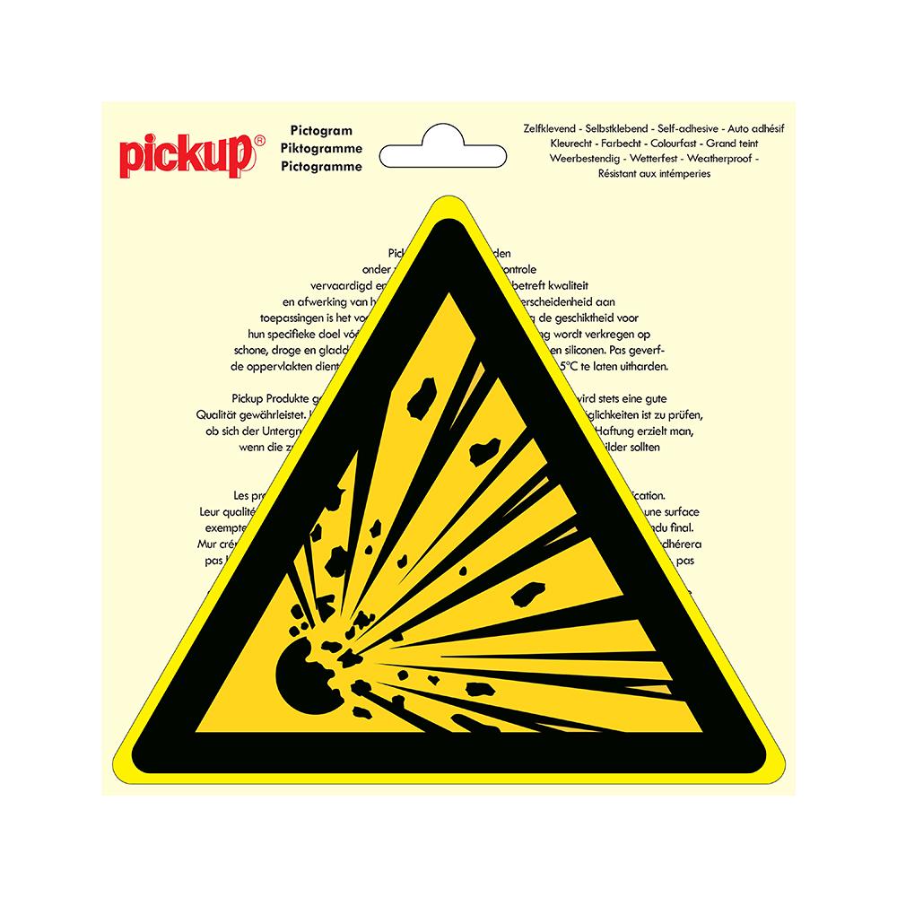 Pictogram driehoek 20cm - Explosieve stoffen