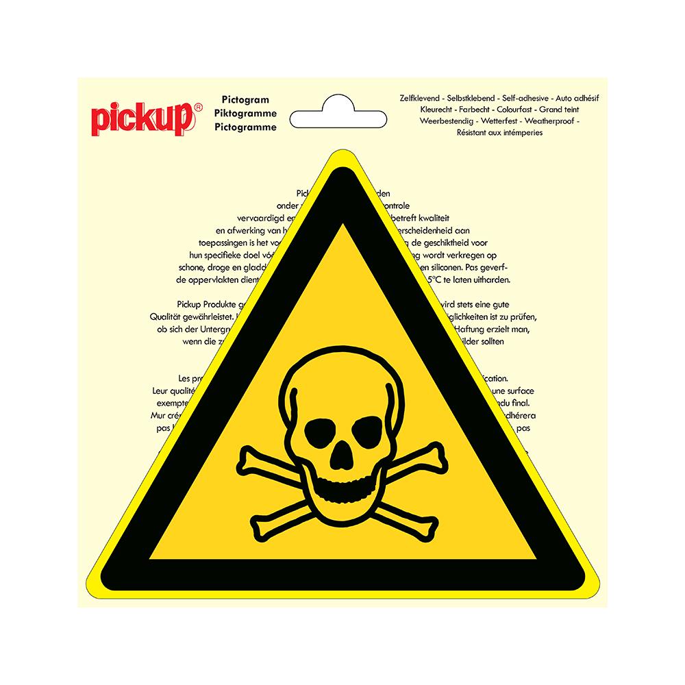 Pictogram driehoek 20cm - Giftige stoffen