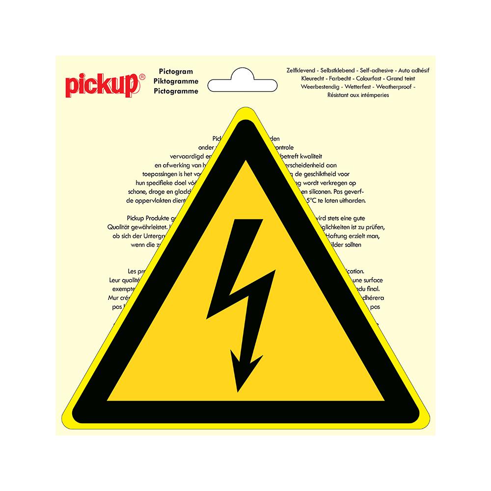 Pictogram driehoek 20cm - Gevaarlijke elektrische spanning