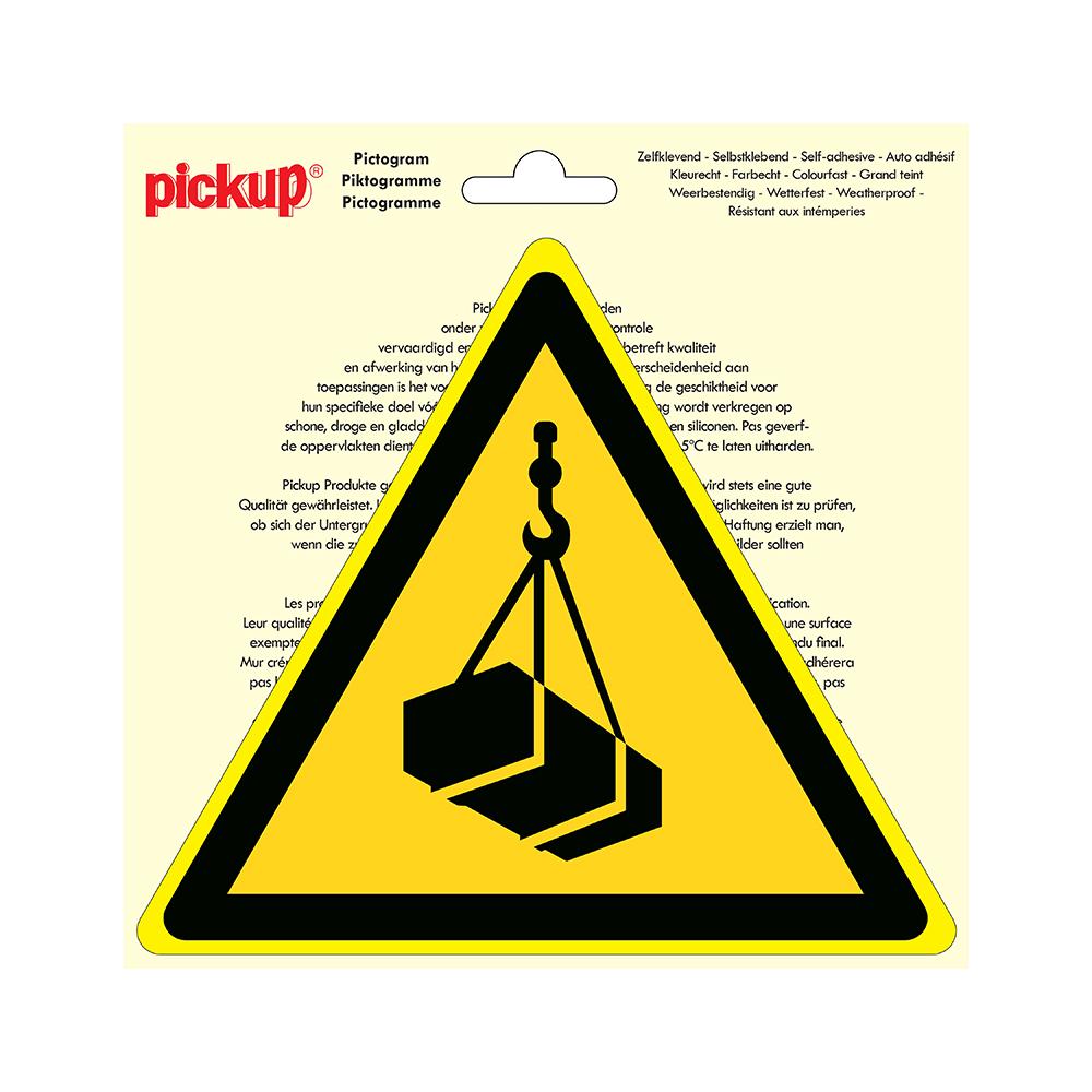Pickup Pictogram driehoek 20 cm - Hangende lasten