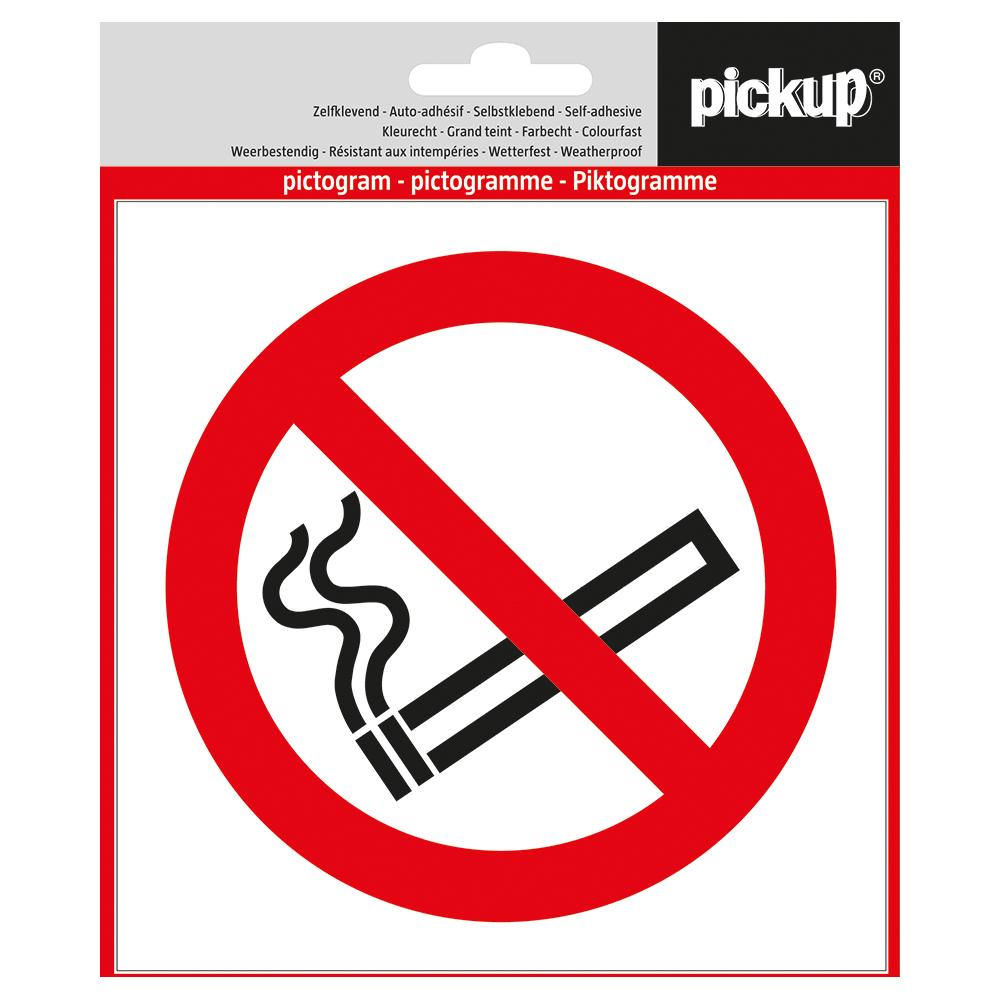 Pickup pictogram Aufkleber 14x14 cm Rauchen verboten