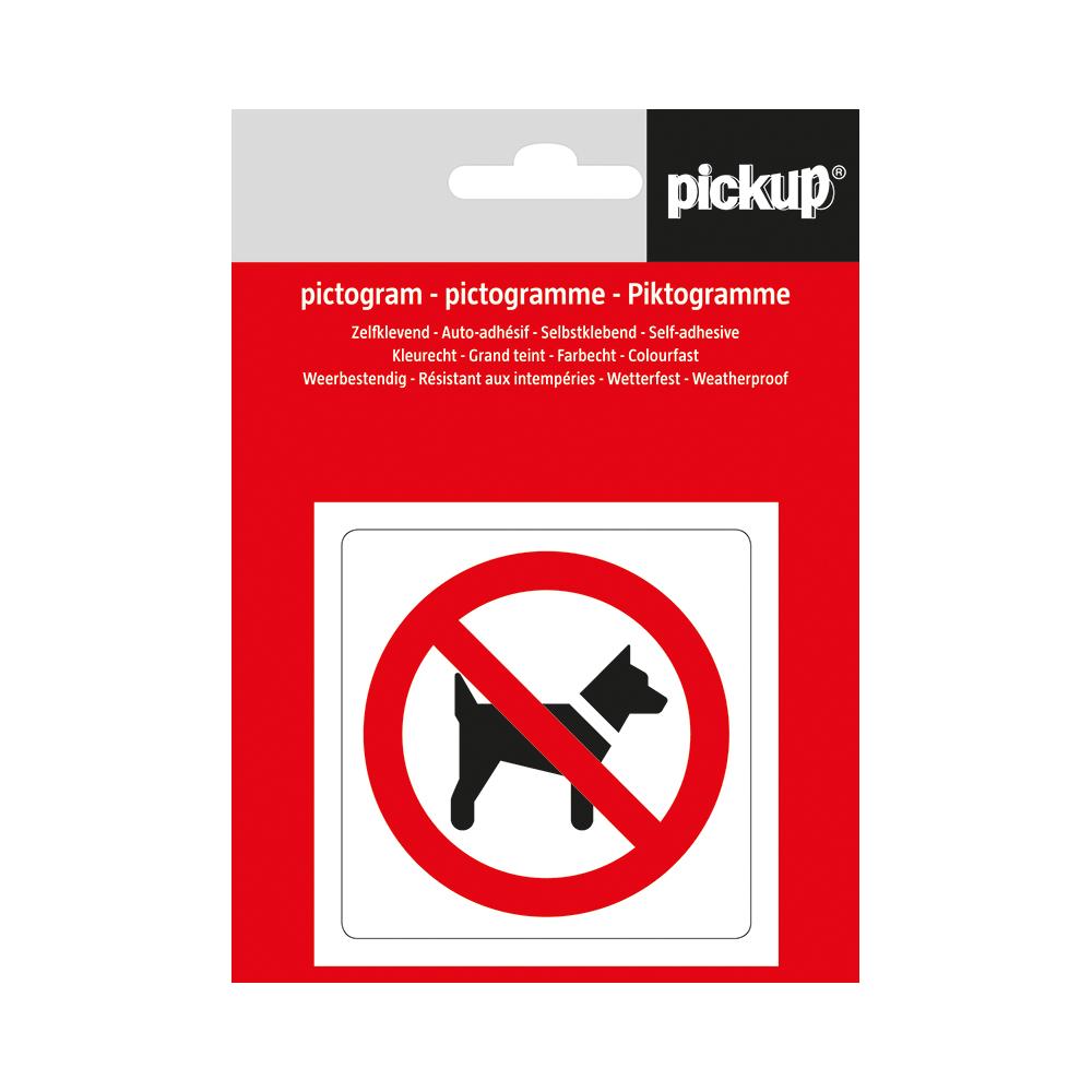 Pictogram Aufkleber 7,5 x 7,5 cm Hunde verboten