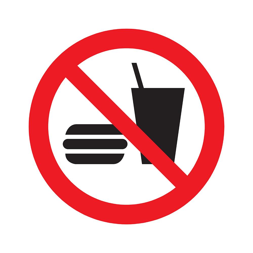 Pickup Pictogram rond diameter 20 cm - Verboden voor consumpties