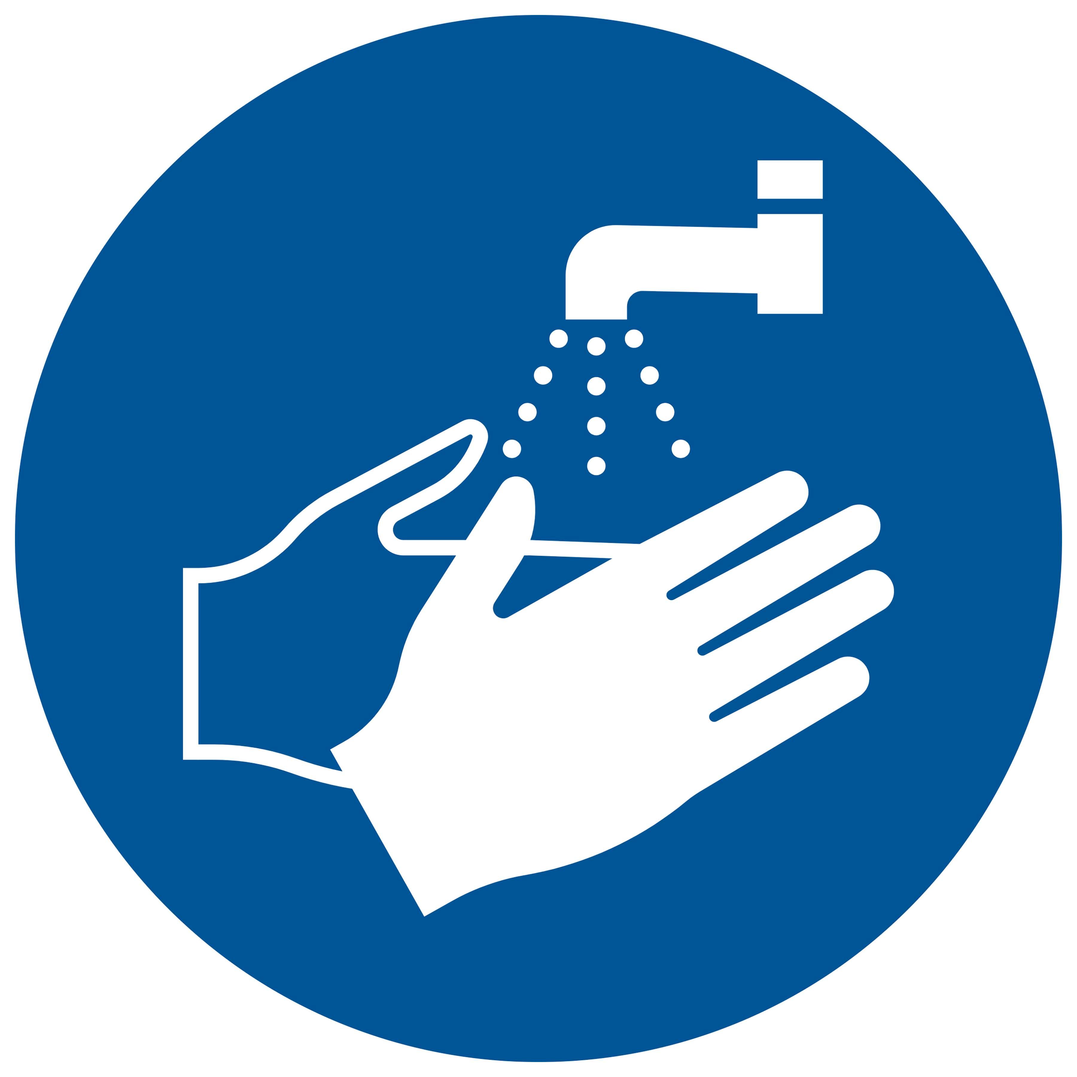 Sticker Handen wassen verplicht - washing hands required - se laver les mains requis - Händewaschen erforderlich - social distance COVID19 COVID-19 corona virus
