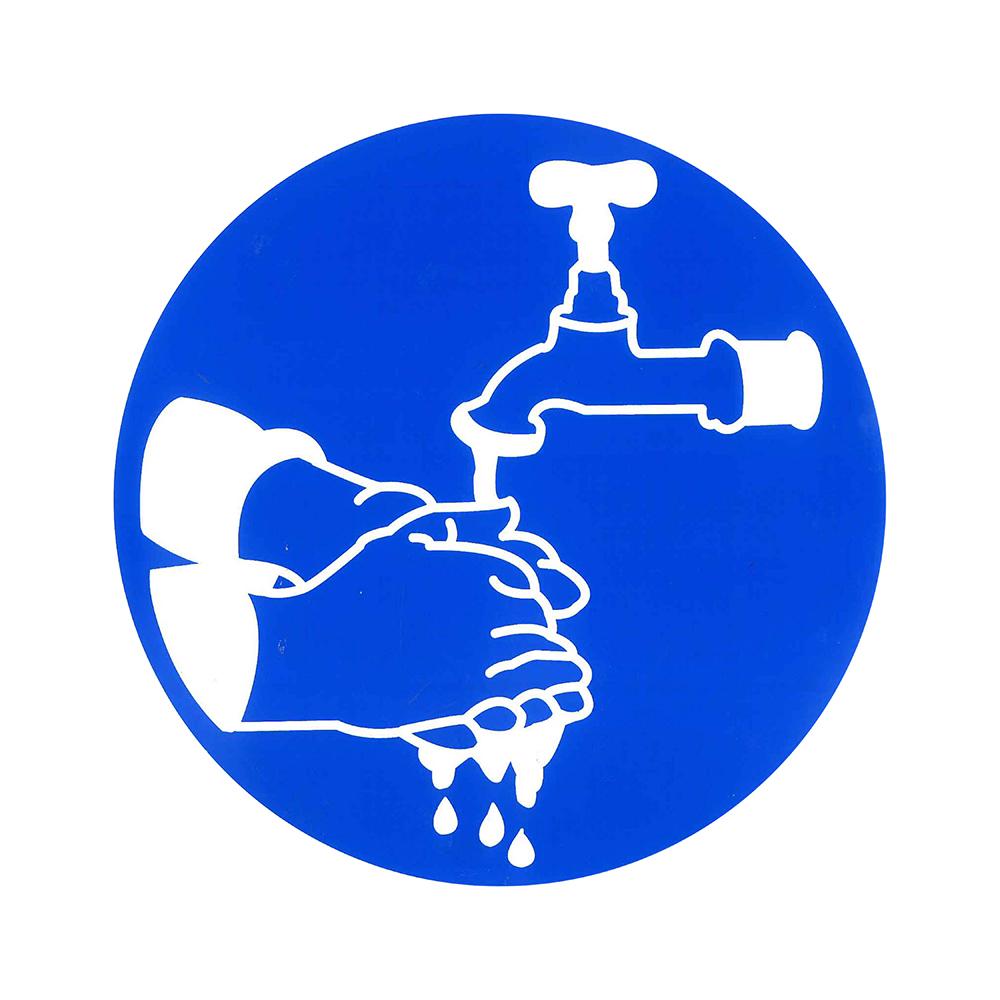 Pictogram rond 20cm - Handen wassen verplicht