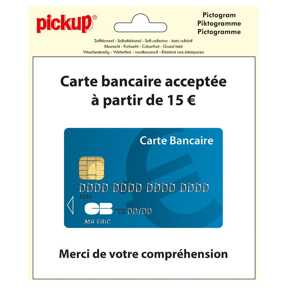 Pictogram 15x15cm Carte bancaire acceptee