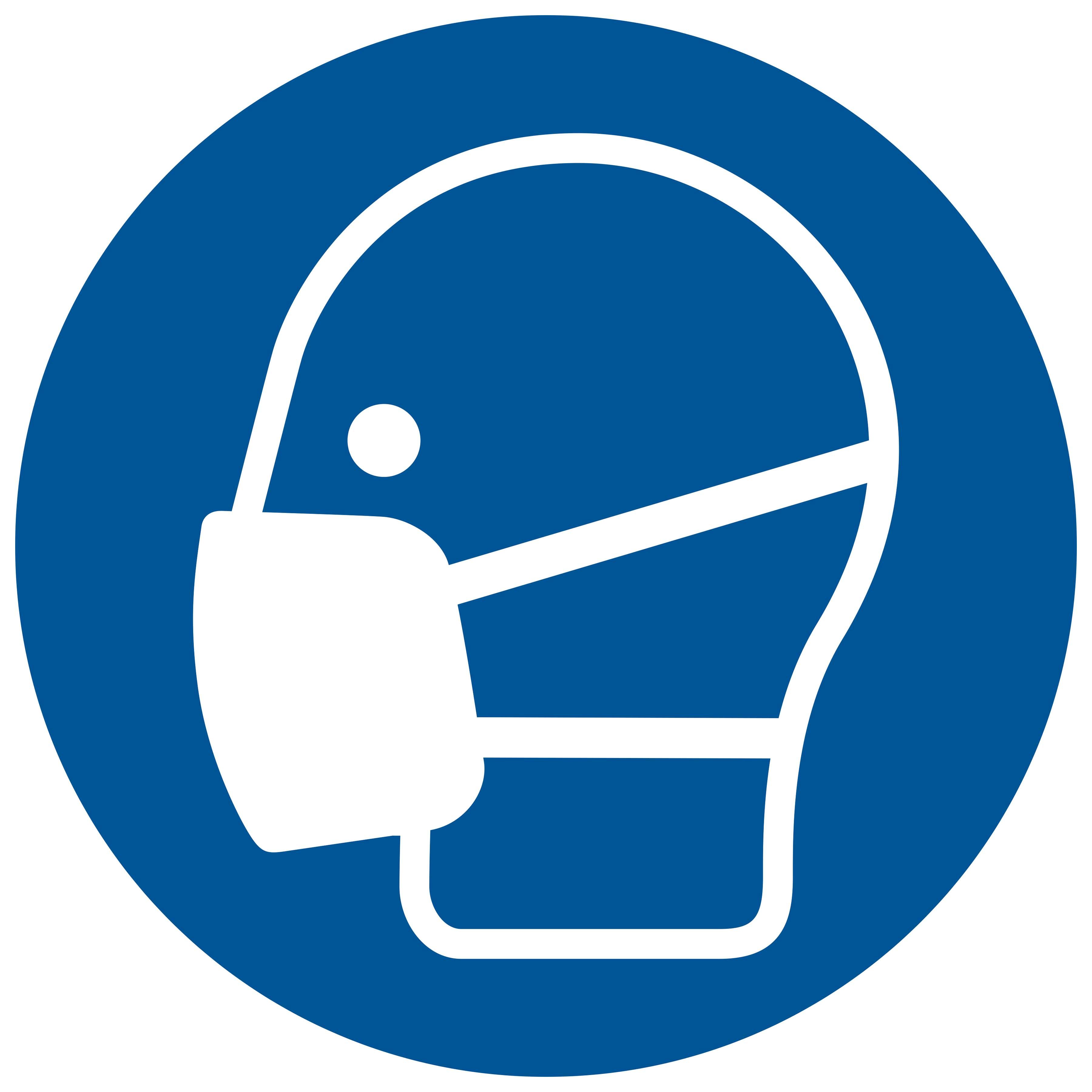 Sticker Mondkapje dragen verplicht - wearing a face mask is mandatory - le port d'un masque facial est obligatoire - Das Tragen einer Gesichtsmaske ist obligatorisch - social distance COVID19 COVID-19 corona virus