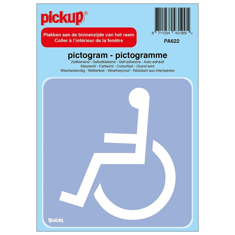 Pictogram achter glas 10x10cm - Toegankelijk voor rolstoel