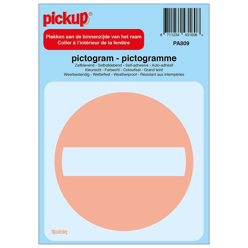 Pictogram achter glas 10x10cm - Verboden toegang